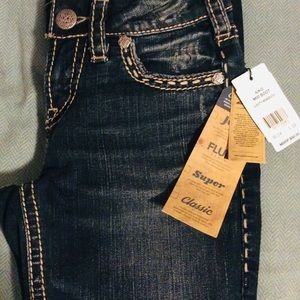 Silver jeans 24/33 dark wash Aika mid boot new